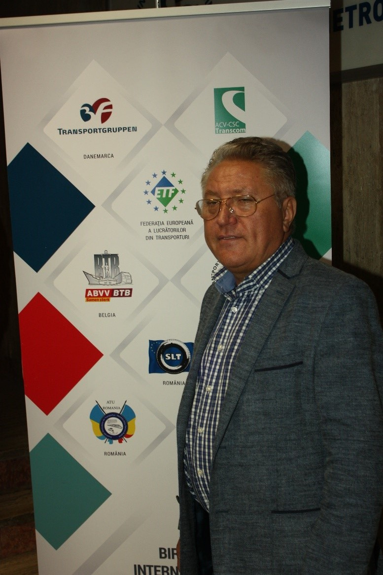 Ion Rădoi, membru în Biroul de conducere al Federaţiei Europene a Transportatorilor, preşedinte al ATU România şi preşedinte al Uniunii Sindicatelor Libere din Metrou.