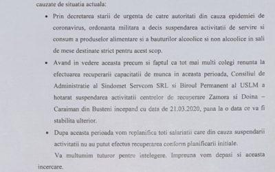 Se suspendă activitatea centrelor de recuperare Zamora și Doina – Caraiman din Bușteni